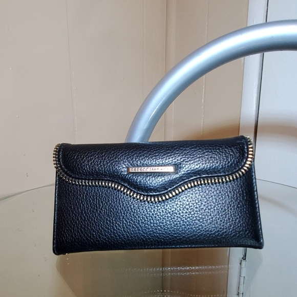 Rebecca Minkoff Black Leather iPhone Case